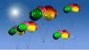 Royalty Free HD Video Clip of Rotating Helium Balloons
