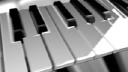 Royalty Free HD Video Clip of a Piano Keyboard