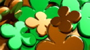 Royalty Free HD Video Clip of Spinning Shamrocks