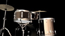 Royalty Free Video of a Turning Drum Kit