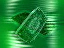 Royalty Free Video of a Turning Dollar Bill