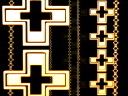 Royalty Free Video of an Abstract Vertical Cross Pattern