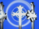 Royalty Free Video of Celtic Crosses