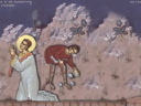 Royalty Free Video of Christ Being Stoned