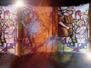 Royalty Free Video of Moving Stained Glass