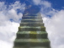 Royalty Free Video of a Stairway to Heaven