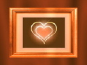 Royalty Free Video of a Heart in a Frame