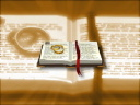 Royalty Free Video of Wedding Rings on a Bible