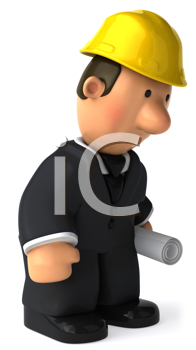 Royalty Free Clipart Image of a Dejected Architect