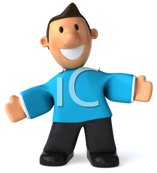 Royalty Free Clipart Image of a Man With Open Arms