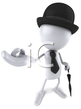 Royalty Free Clipart Image of a Blank English Dude
