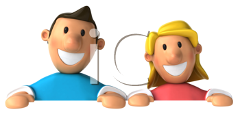 Royalty Free Clipart Image of a Man and Woman