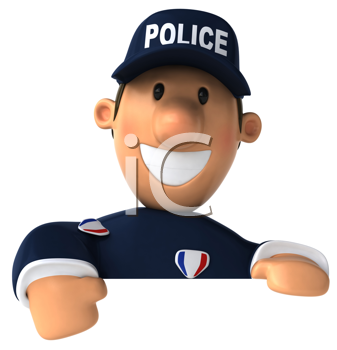 Royalty Free Clipart Image of a Police Officer