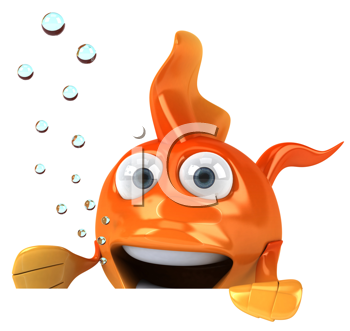 Royalty Free Clipart Image of a Goldfish