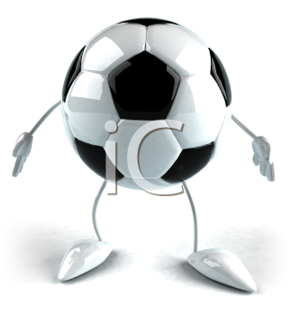 Royalty Free 3d Clipart Image of a Soccer Ball Character