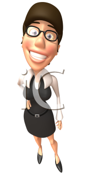 Royalty Free 3d Clipart Image of a Businesswoman