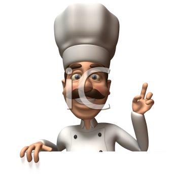 Royalty Free 3d Clipart Image of a Chef