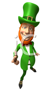 Royalty Free 3d Clipart Image of a Leprechaun