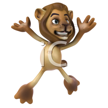 Royalty Free 3d Clipart Image of a Lion
