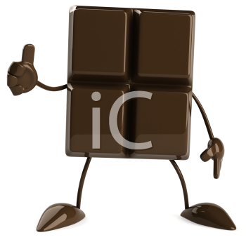 Royalty Free Clipart Image of a Chocolate Person