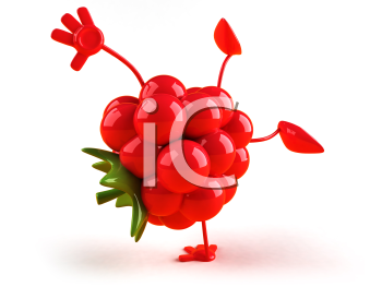Royalty Free 3d Clipart Image of a Raspberry