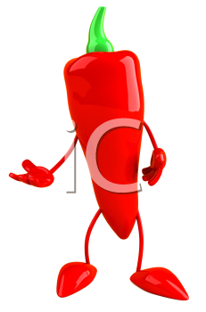 Royalty Free Clipart Image of a Red Pepper