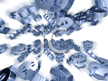 Royalty Free 3d Clipart Image of Dollar Signs