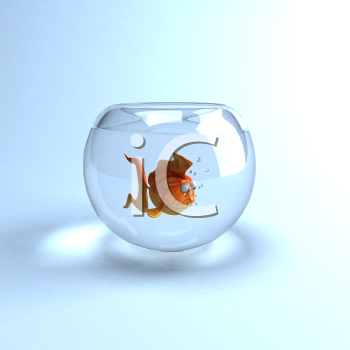 Royalty Free Clipart Image im a Fish in a Glass Bowl