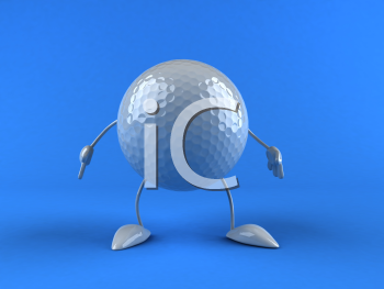 Royalty Free 3d Clipart Image of a Golf Ball