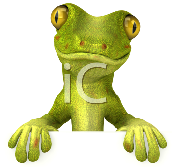 Royalty Free 3d Clipart Image of a Gecko