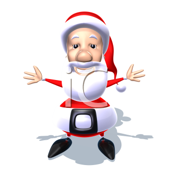 Royalty Free 3d Clipart Image of Santa