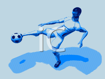 Royalty Free Clipart Image of a Male Soccer Player