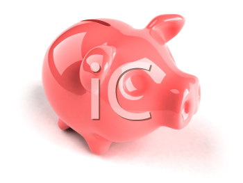 Royalty Free 3d Clipart Image of a Piggy Bank