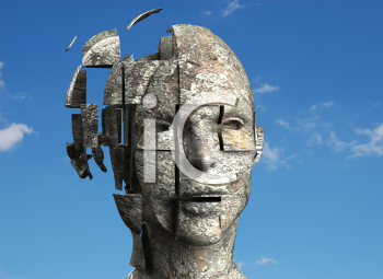 Royalty Free 3d Clipart Image of a Mannequin Head