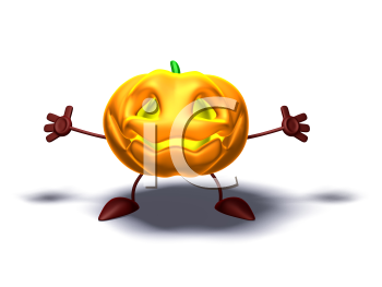 Royalty Free 3d Clipart Image of a Pumpkin