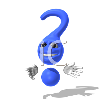 Royalty Free 3d Clipart Image of a Question Mark
