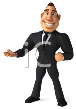 Royalty Free Clipart Image of a Confident Businessman