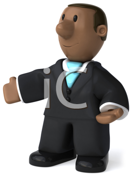 Royalty Free Clipart Image of a Black Businessman