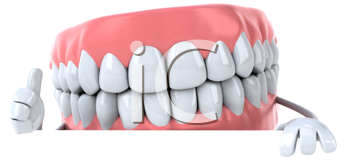 Royalty Free Clipart Image of a Denture