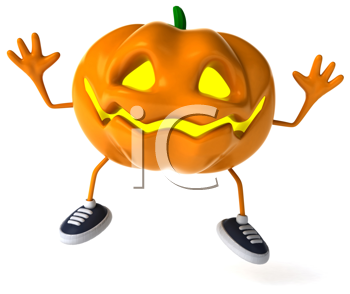 Royalty Free Clipart Image of a Happy Jack-o-Lantern