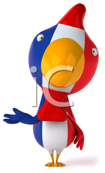 Royalty Free Clipart Image of a French Chicken