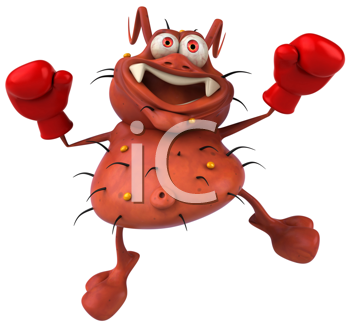 Royalty Free Clipart Image of a Boxing Germ