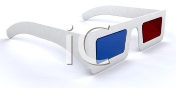 Royalty Free Clipart Image of a Pair of 3D Movie Glasses
