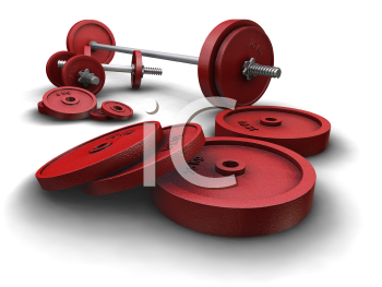 Royalty Free Clipart Image of Barbells