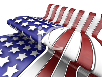 Royalty Free Clipart Image of a 3D American Flag