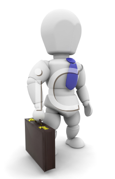 Royalty Free Clipart Image of a Person in a Briefcase