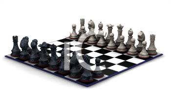 Royalty Free Clipart Image of a Chess Board