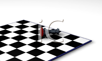 Royalty Free Clipart Image of a Fallen Chess Piece