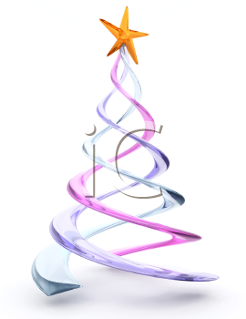 Royalty Free Clipart Image of a Glass Spiral Tree