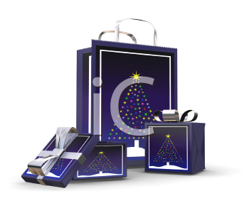 Royalty Free Clipart Image of Christmas Presents